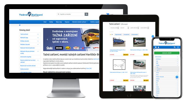 Modernizace e-shopu tazny.cz