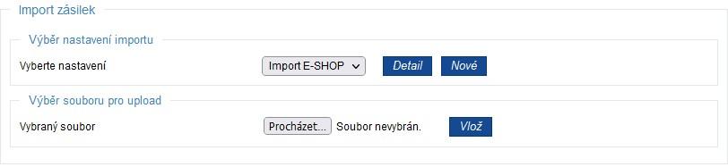 Import zásilek