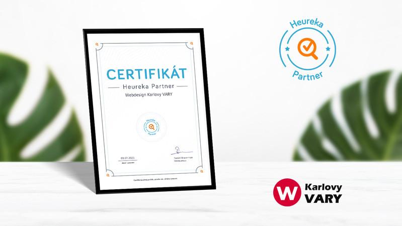 Stali jsme se držiteli certifikátu Heureka Partner
